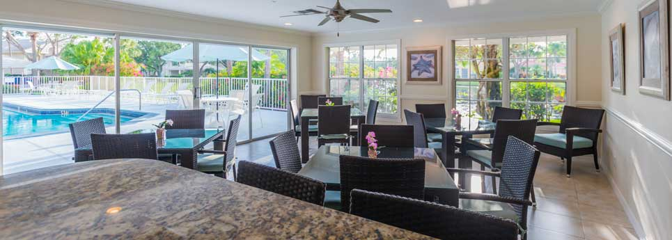 Clubhouse room in Bellerive community | Vineyards Community Association - Naples, Florida