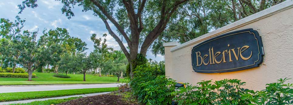 Community Sign in Bellerive community | Vineyards Community Association - Naples, Florida