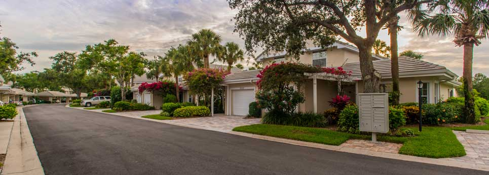 Homes and mailbox at Bellerive community | Vineyards Community Association - Naples, Florida