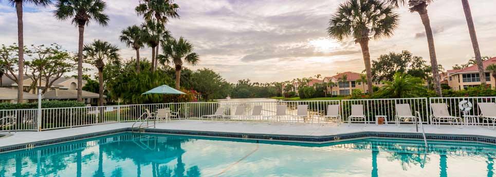 Pool at Bellerive community   Vineyards Community Association - Naples, Florida