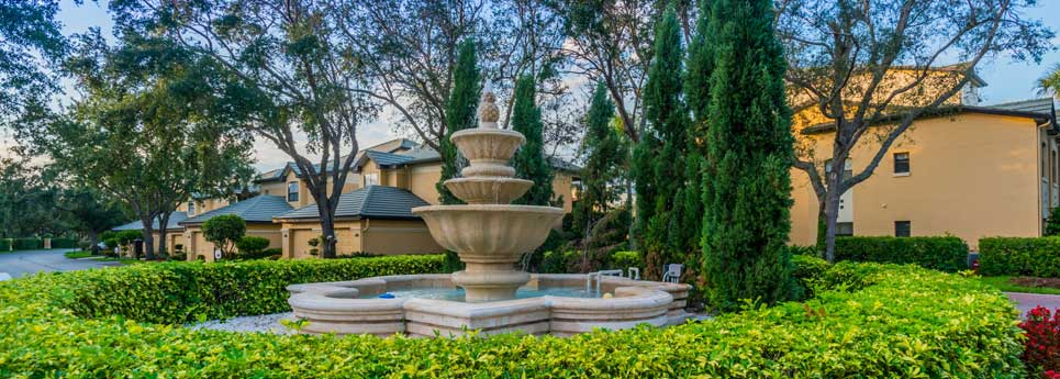 Fountain at Concord community | Vineyards Community Association - Naples, Florida
