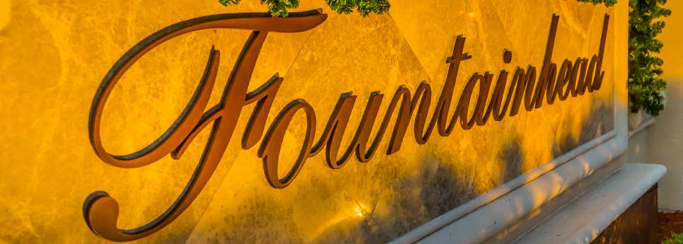 Sign at Fountainhead community | Vineyards Community Association - Naples, Florida