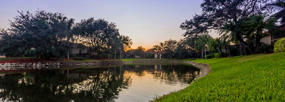 Lake at Fountainhead community | Vineyards Community Association - Naples, Florida