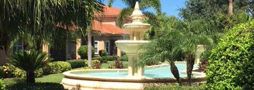 Montelena Fountain in the Vineyards Community | Vineyards Community Association